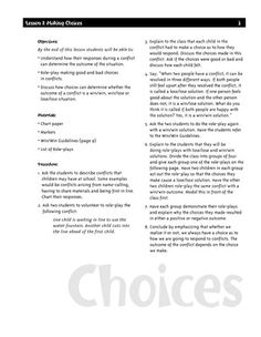 FREE Conflict Resolution Peer Mediation Elementary School Guide