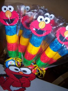 Can make into superman Elmo First Birthday, Monster Birthday Parties, Elmo Party, First Birthday Parties, Birthday Party Themes, Sesame Street Birthday Party Ideas, Birthday Ideas, Mickey Party, Dinosaur Party