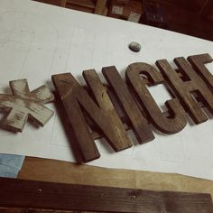 Highway Wood Sign