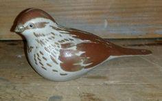 "POD Studio Edgecomb Pottery Maine Brown Bird Sparrow in the style of Andersen 5"""