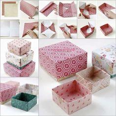 Origami ile hediye kutusu yapımı | El Yapımı | Pek Marifetli!