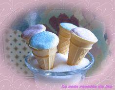 Le coin recettes de Jos: MINI-CORNETS À LA GUIMAUVE Sorbets, Biscuits, Coin, Pudding, Sugar, Candy, Chocolate, Breakfast, Desserts