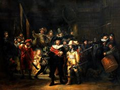 De Nachtwacht (The Night Watch) by Rembrandt, Rijksmuseum, Amsterdam, The Netherlands