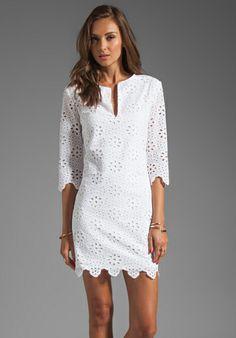 Dolce Vita (DV- Charlene) Daisy Embroidery Long Sleeve Dress in Snow