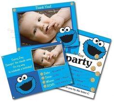 Sesame Streeet - COOKIE MONSTER - Printable Party Pack