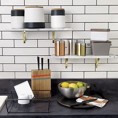 dip black and white canisters | CB2