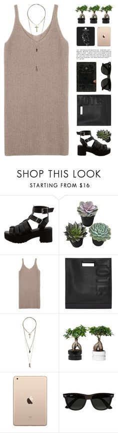 """Lenore"" by chelseapetrillo ❤ liked on Polyvore featuring 3.1 Phillip Lim, Relic, Ray-Ban, Topshop, black, clean, dress, brown and organized"