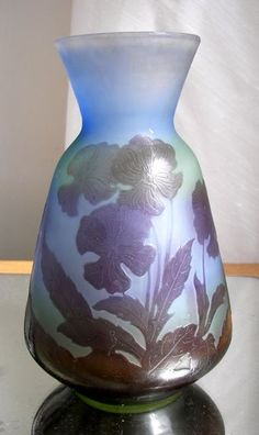 GENUINE GALLE CAMEO GLASS VASE