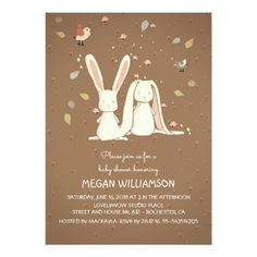 rabbit bunnies couple woodland child bathe card. *** Have a look at even more by visiting the image