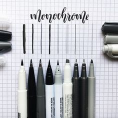 [15/04/17] Actually so proud of this so /minimal/ and Aesthetic™  I love these stationery posts tbh  items from left to right: • Le Pen technical drawing brush pen  • Pentel Sign Pen in grey and black [ @pentelofamerica ] • Kuretake Zig Clean Colour Real Brush Pens [ @kuretakezig ] ⌨️ • Grey Zebra Mildliner WKT7 [ @zebrapenuk ]  • Staedtler Triplus Fineliners in Dark and Light Grey [ @staedtlermars ]  • Staedtler Triplus Colour Felt Tip in Light Grey [ @staetriplus ]