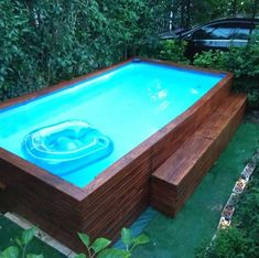 If you want to make your pool look a thousand times better, swimming pool decks can do the trick. It can be concrete or wood decking or vinyl even; installing a swimming pool deck can protect your back yard from… Continue Reading → Piscina Diy, Ideas De Piscina, Piscina Intex, Above Ground Swimming Pools, Swimming Pools Backyard, Swimming Pool Designs, In Ground Pools, Indoor Pools, Diy In Ground Pool