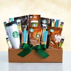 Starbucks Get Up And Go Box Hot Cold Travel Mug Gift Baskets Friends Family Best