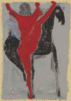 Marino Marini (1901-1980)  Cavallo e Cavaliere