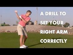 Golf Drill - The Correct Right Arm / Shoulder Movement - YouTube #ImportantGolfTips