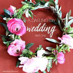 Darling DIY Wedding. TablerPartyofTwo.com