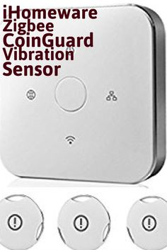 The iHomeware Zigbee CoinGuard Vibration Sensor will alert you if your possessions are being handled. Does this different kind of security work? Smart Home Technology, Digital Technology, Tools And Toys, Home Security Tips, Home Camera, Smart Home Automation, Home Protection, Tech Toys, Home Gadgets