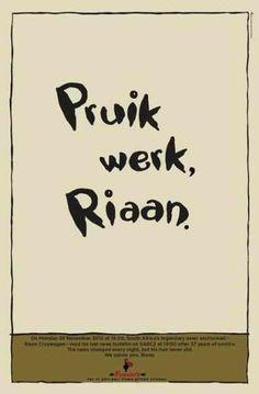 Pruiik, sê ek mos ook... Last News, Afrikaanse Quotes, South Africa, Funny Pictures, African, Wisdom, Reading, Words, Nice