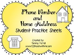 address and phone numbers
