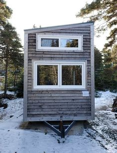 Beautiful tiny house for sale Tiny House Rentals, Tiny House Listings, Small House Exteriors, Clapboard Siding, Sylvan Lake, Tiny Houses For Sale, Shipping Container Homes, Steel Frame, Frames On Wall