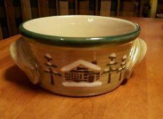 Sonoma Home Lodge Dinnerware-5-3/8\  Handles Soup Bowls-moose/bear & Tienshan-Dinnerware-Moose-Country-Pattern-Round-Vegetable-Bowl-9-034 ...