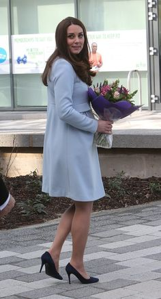 Kate Middleton Pregnant at the Kensington Leisure Center | POPSUGAR Celebrity