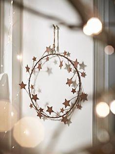 Rusty Starry Wreath | Cox & Cox