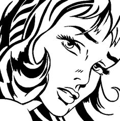 "[O][S][F] ""Girl With Hair Ribbon"" - Roy Lichtenstein, 1965, pop-art, Pop Art, half-tone screen, painting, old-fashioned comic strip, pulp comic - Imgur"