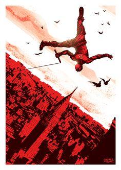 Daredevil poster on Behance Marvel Vs, Marvel Heroes, Captain Marvel, Comic Book Artists, Comic Books Art, Comic Art, Daredevil Elektra, Marvel Comic Character, Silver Surfer