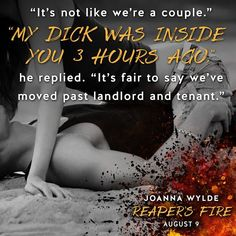 Are you ready for Gage and Tinker's story? Reaper's Fire releases on August 9th!  Reaper's Fire by Joanna Wylde Reapers Motorcycle Club #6 Genre: MC Romance Release Date: August 9, 2016