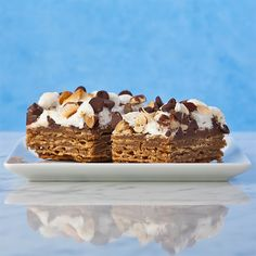 Welcome to the world of crunch, chocolate, and marshmallows.  Get the recipe from Gluten Free Canteen.   - Delish.com