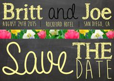 Chalkboard+Floral+Save+The+Date++Custom+by+Creativeintricacies,+$12.00