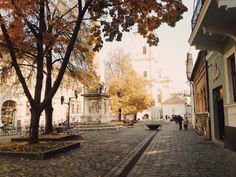 """""""My favorite square in Cluj-Napoca is the old town Museum Square. It's probably best to visit when it's coated in fall colors. The cobblestone, cozy cafes, people wandering about their business…here, you can really feel the bohemian vibe of the city. Places Around The World, Around The Worlds, Transylvania Romania, Romania Travel, Bucharest Romania, Places To See, Travel Inspiration, Vacation, Instagram"""