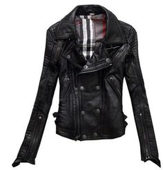 Limited edition classic fashion star style motorcycle version of the leather clothing women pure sheepskin leather jacket female
