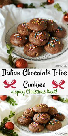 Italian Chocolate Toto Cookies |Traditional Christmas Treat