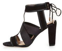 River Island Womens Black cross over heel sandals