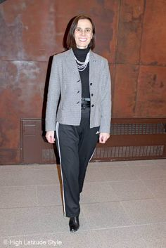 mature fashion unmatched suit at the Top of the World Style linkup party @ High Latitude Style @ http://www.highlatitudestyle.com