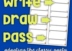 Write, Draw, Pass – The Comprehensible Classroom French Resources, World Languages, Teaching Resources, School Ideas, Conference, Spanish, High School, Classroom, Draw