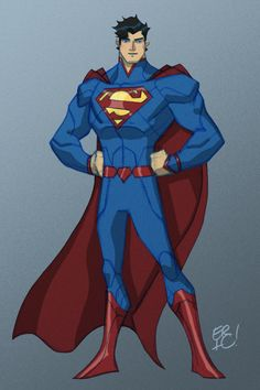 Animated New 52 Justice League Design by Eric Guzman - Superman
