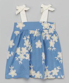 Another great find on #zulily! Blue Daisy Tank - Toddler & Girls #zulilyfinds