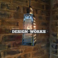 Industrial Lighting Pendant Light Ceiling Light Lighting Industrial Box Grater Ceiling Pendant by idWorks on Etsy https://www.etsy.com/uk/listing/277305574/industrial-lighting-pendant-light