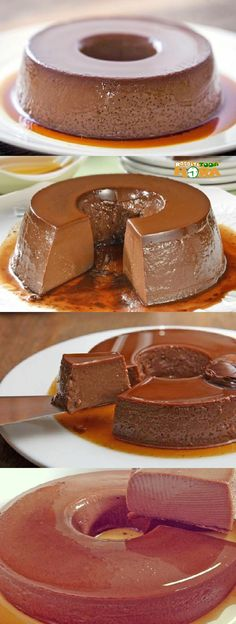 Easy Cake Recipes, Chef Recipes, Sweet Recipes, Dessert Recipes, Portuguese Desserts, Chocolate Cake Recipe Easy, Pudding Desserts, My Dessert, Easy Cooking