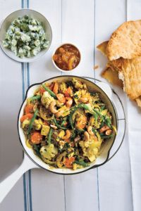 Vegetable Quinoa Curry - This healthy meal has it all big on flavor, it's also packed with protein-rich tofu and quinoa and an array of colorful vegetables. I'd probably use chicken instead.I know, no longer vegetarian. Vegetable Quinoa, Healthy Vegetable Recipes, Vegetable Curry, Vegetarian Recipes, Cooking Recipes, Vegetable Stock, Vegetable Dishes, Clean Recipes, Delicious Recipes
