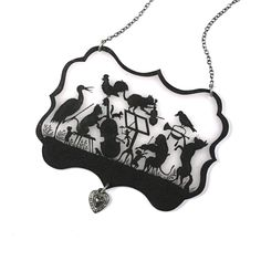 Animal Orchestra Silhouette Necklace by mamaslittlebabies on Etsy