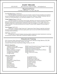 resume for triage nurse httpwwwresumecareerinforesume