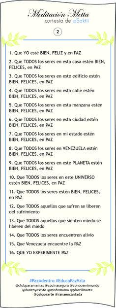 """""""Al terminar la Meditación Metta, puedes quedarte un rato respirando de manera consciente y meditando con gentileza. Un regalo para ti, para mí, para Venezuela #PAZ"""", Sakti.  Pulsa sobre la imagen y escucha la meditación en Soundcloud."""