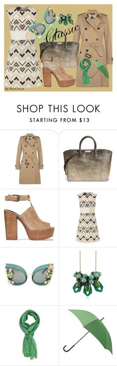 """classic"" by alice-durica ❤ liked on Polyvore featuring Burberry, Rebecca Minkoff, Giambattista Valli, Dolce&Gabbana, Marni and Hunter"