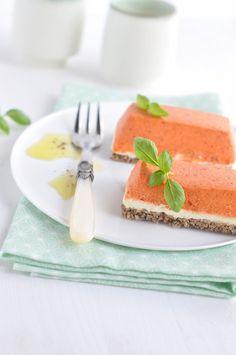 Cheesecake à la mousse de poivron et chèvre frais