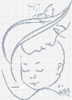 Mamma e bimbo Just Cross Stitch, Cross Stitch Baby, Cross Stitch Alphabet, Cross Stitch Charts, Cross Stitch Patterns, Cross Stitching, Cross Stitch Embroidery, Embroidery Patterns, Hand Embroidery