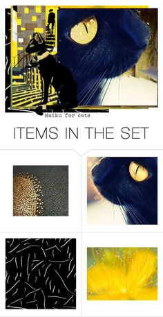 """""""Haiku for cats"""" by artsdesireable ❤ liked on Polyvore featuring art and abstracts"""