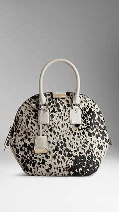 LOVE THIS! | The Medium Orchard in Animal Print Calfskin | Burberry